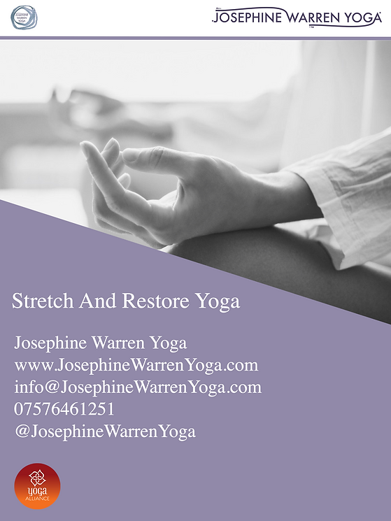 Stretch and restore YOGA POSTER 2019