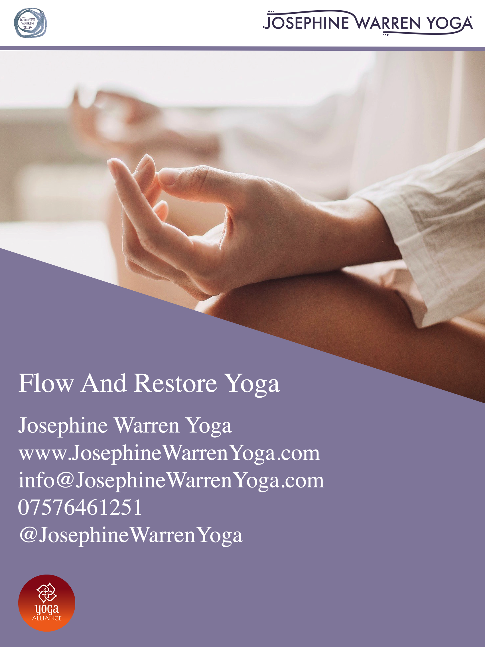 flow and resore YOGA POSTER 2019 copy