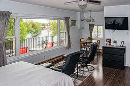 Water view motel room