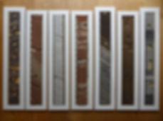 Multiple framed core slabs for display