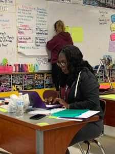 REAL Teachers working with REAL data at Jersey City Community Charter School