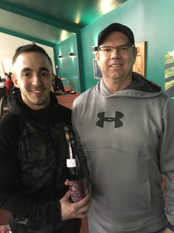 Men's finalist Dino Misonovic winner Dave Edgell Chute Electric pring Slam