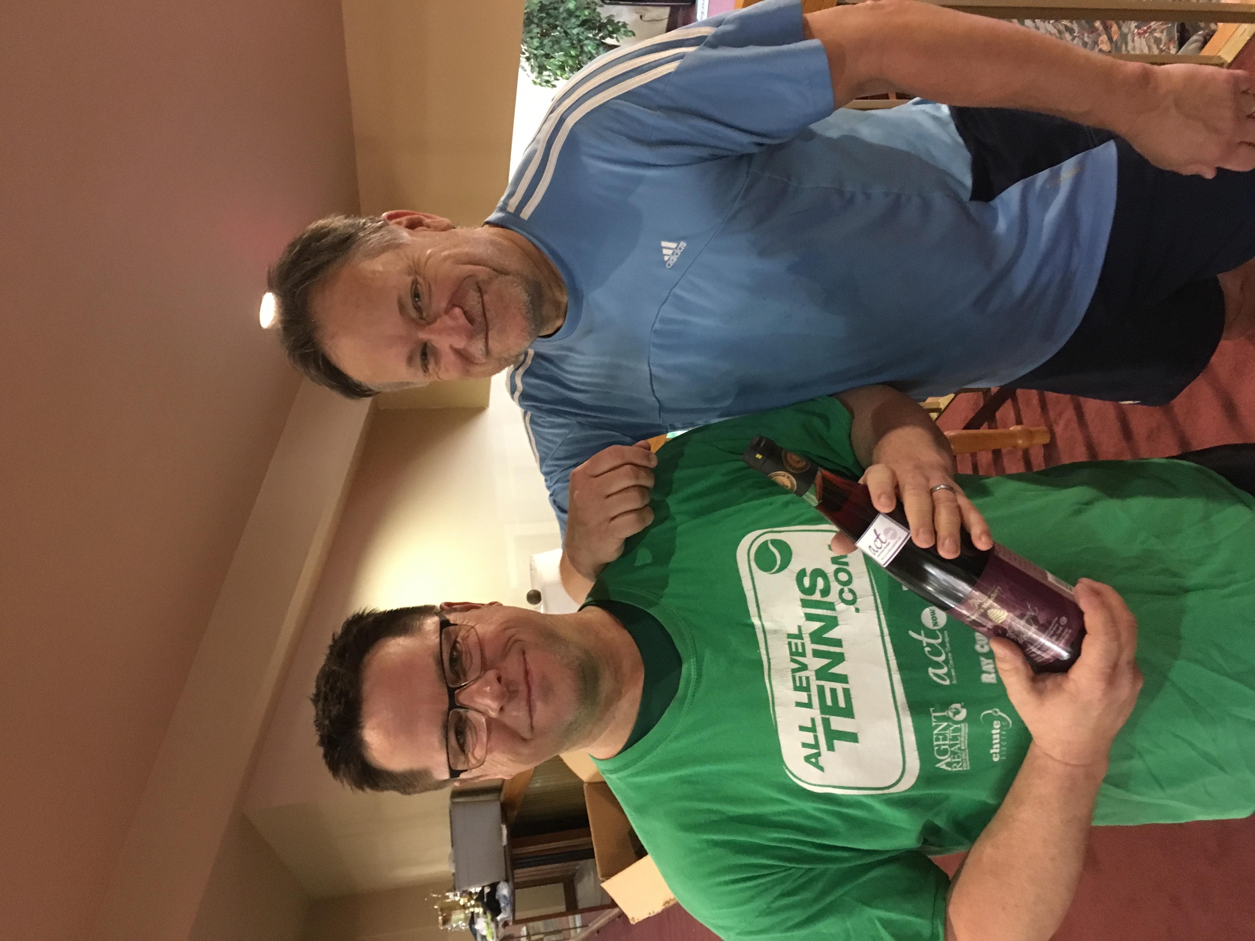 Men's Senior Winner David Webb finalist terry Bailey Chute Electric Spring Slam