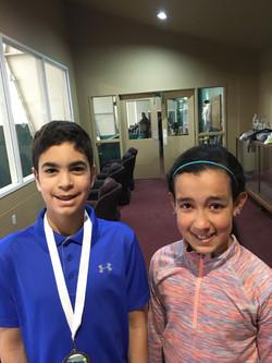 Junior Club Consolation Winner Kareem finalist Dana Chute Electric Spring Slam