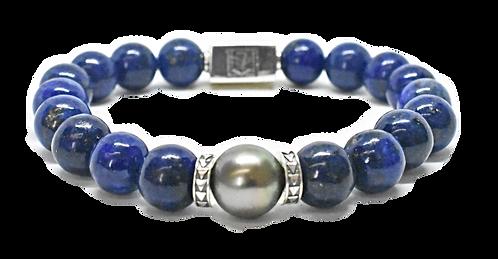 Pearl Kai Signature 10mm Blue Lapis Bracelet