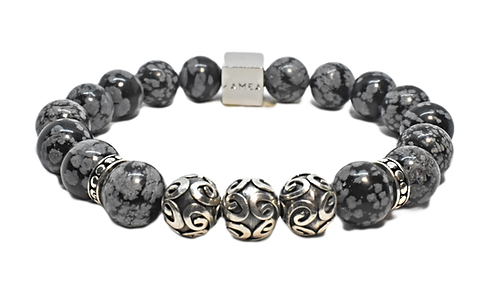 Black Sands Bracelet 10 mm Obsidian