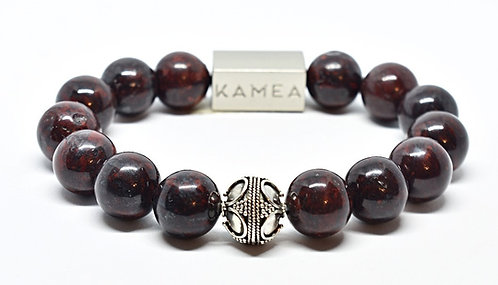 Waialua Bracelet 12mm Red Jasper