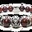 Thumbnail: Red Koa Bracelet 10 mm Red Jasper
