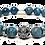 Thumbnail: Tidepools Bracelet 10mm Blue Translucent Apatite