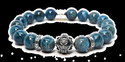 Tidepools Bracelet 10mm Blue Translucent Apatite