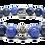 Thumbnail: Whitewash GT Bracelet 10mm Sodalite