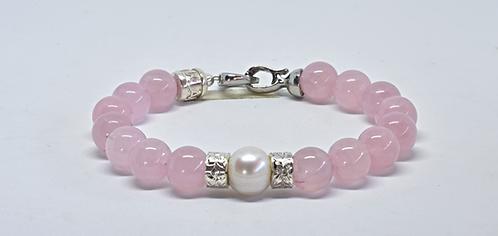Na Wahine Pearl Kai Bracelet 10mm Rose Quartz