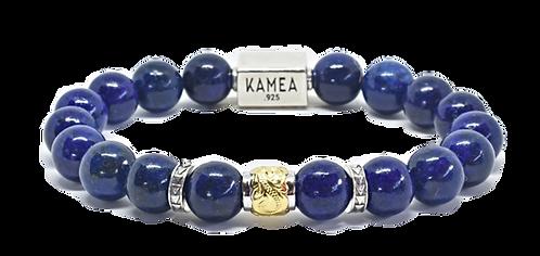Scroll Signature Bracelet 10mm Blue Lapis