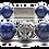 Thumbnail: Deep Blue Bracelet 12mm Blue Pyrite