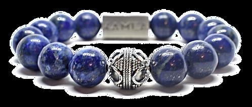Deep Blue Bracelet 12mm Blue Pyrite