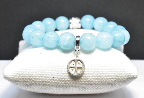 Na Wahine Queen's Bath Bracelet 10mm Light Blue Jade