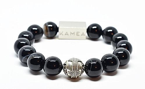 Punalu'u Bracelet 12mm Black Agate