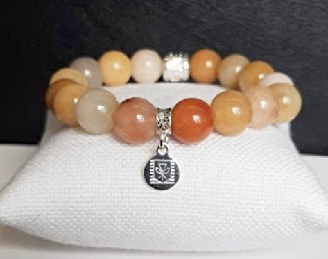 Na Wahine Kalia Bracelet 10mm Gobi Jade