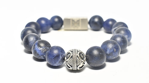 Currents Bracelet 12mm Blue Matte Soladite