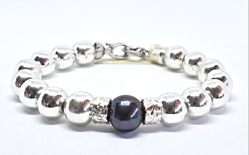 Na Wahine Pearl Kai Bracelet 10mm Hematite