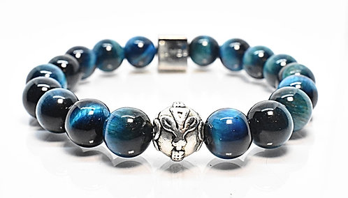 O Ke Kai GT Bracelet 10mm Blue Grn Tiger Eye