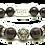 Thumbnail: Cane Fire Bracelet 10mm Red Garnet