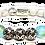 Thumbnail: Mauna Kea Bracelet 10mm White Howlite