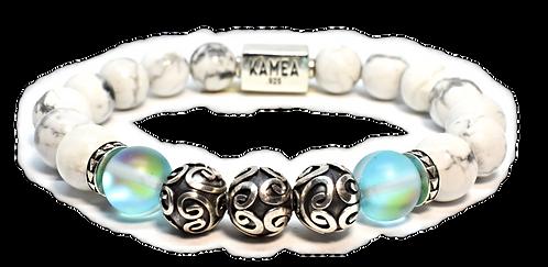 Mauna Kea Bracelet 10mm White Howlite