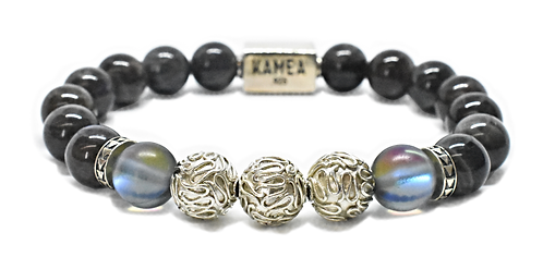 Makani Bracelet 10mm Gray Labradorite