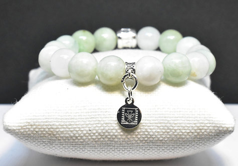 Na Wahine Ka'u Green Sands Bracelet 10mm Green Jade
