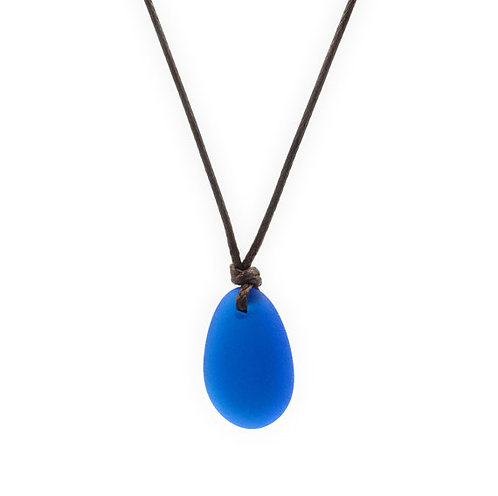 Sea Glass Necklace Blue