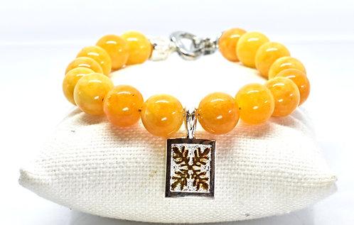 Na Wahine Alohi Bracelet 10mm Amber Yellow