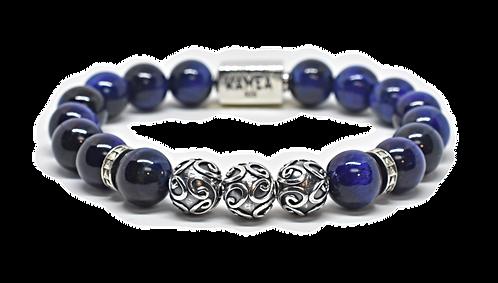 Starry Night Bracelet 10mm Blue Tiger Eyes