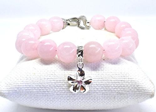 Na Wahine Akala Bracelet 10mm Rose Quartz