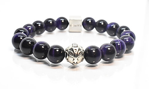 Poni GT Bracelet 10mm Purple Tiger Eyes