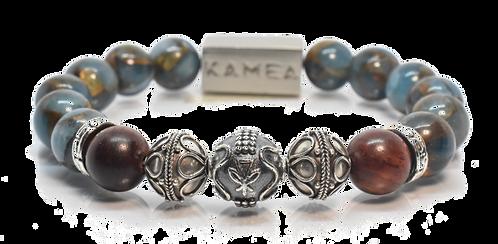 Honua Bracelet 10mm Blue Sandstone