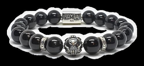 Ahonui Bracelet 10mm Onyx Stones