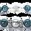 Thumbnail: Pearl Kai Signature 10mm Blue Translucent Apatite Bracelet