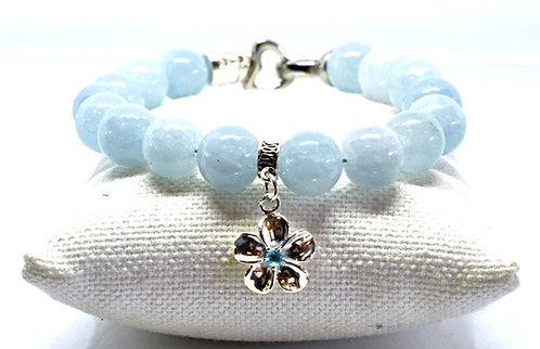 Na Wahine Honolua Bay Bracelet 10mm Aquamarine