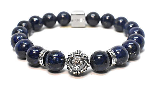 New Moon Rising Bracelet 10mm Blue Lapis Lazuli