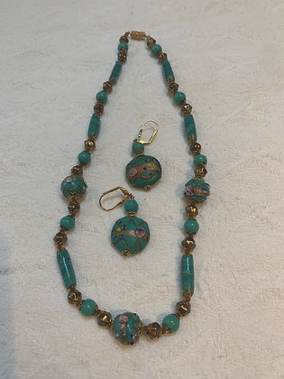 Venetian Glass Necklace and Earrings