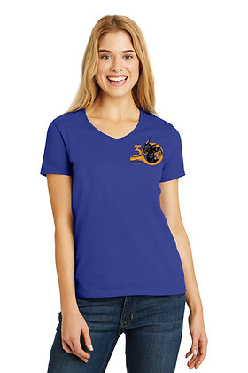 Ladies' V-Neck Short Sleeve Tee