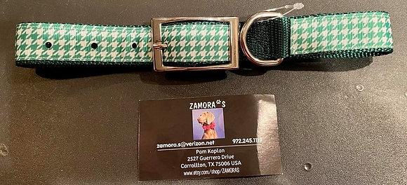 "38 Zamora's tan and green collar 2"" x 18"""