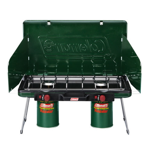 COLEMAN POWERHOUSE LP 2-Burner STOVE 2 Green