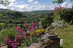 Jardins surplombant la vallée