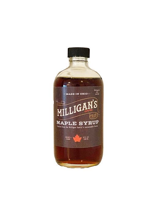 Milligans Organic Ohio Pure Maple Syrup (8oz)