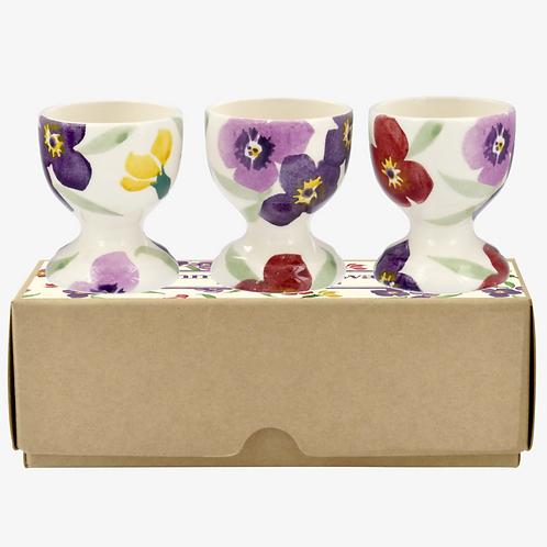 PURPLE WALLFLOWER - SET OF 3 EGG CUPS