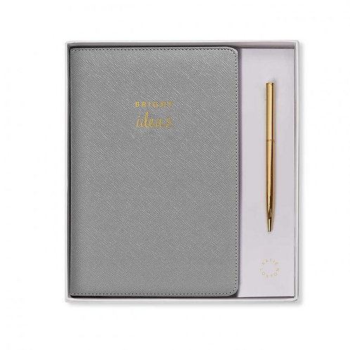 A5 NOTEBOOK AND PEN | BRIGHT IDEAS | GREY