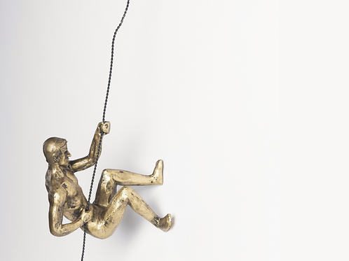 CLIMBING SCULPTURE IN GOLD FINISH