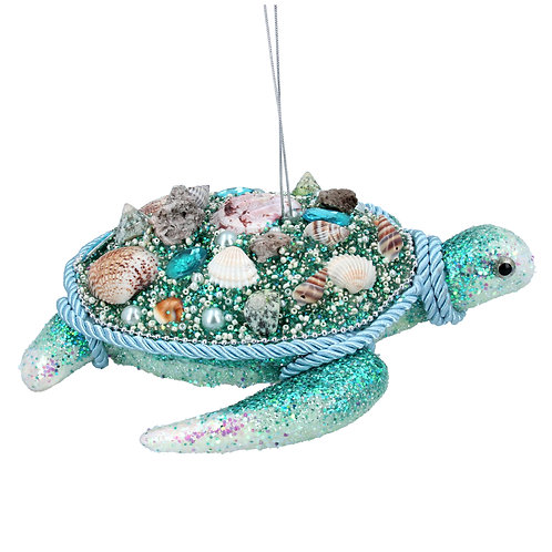 TURQUOISE GLITTER TURTLE